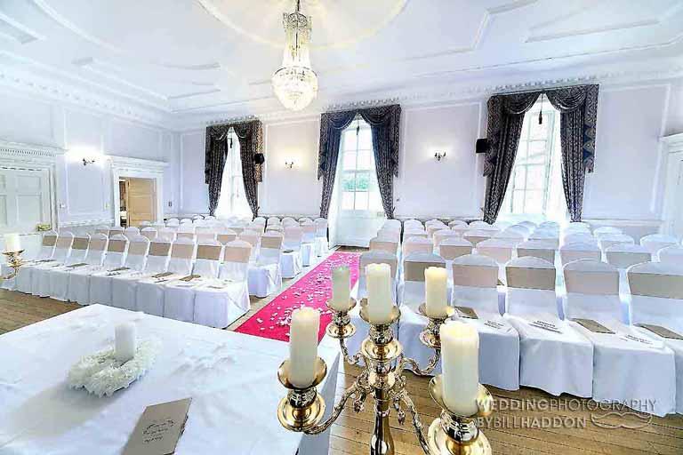 Brooksby Hall civil wedding ceremony
