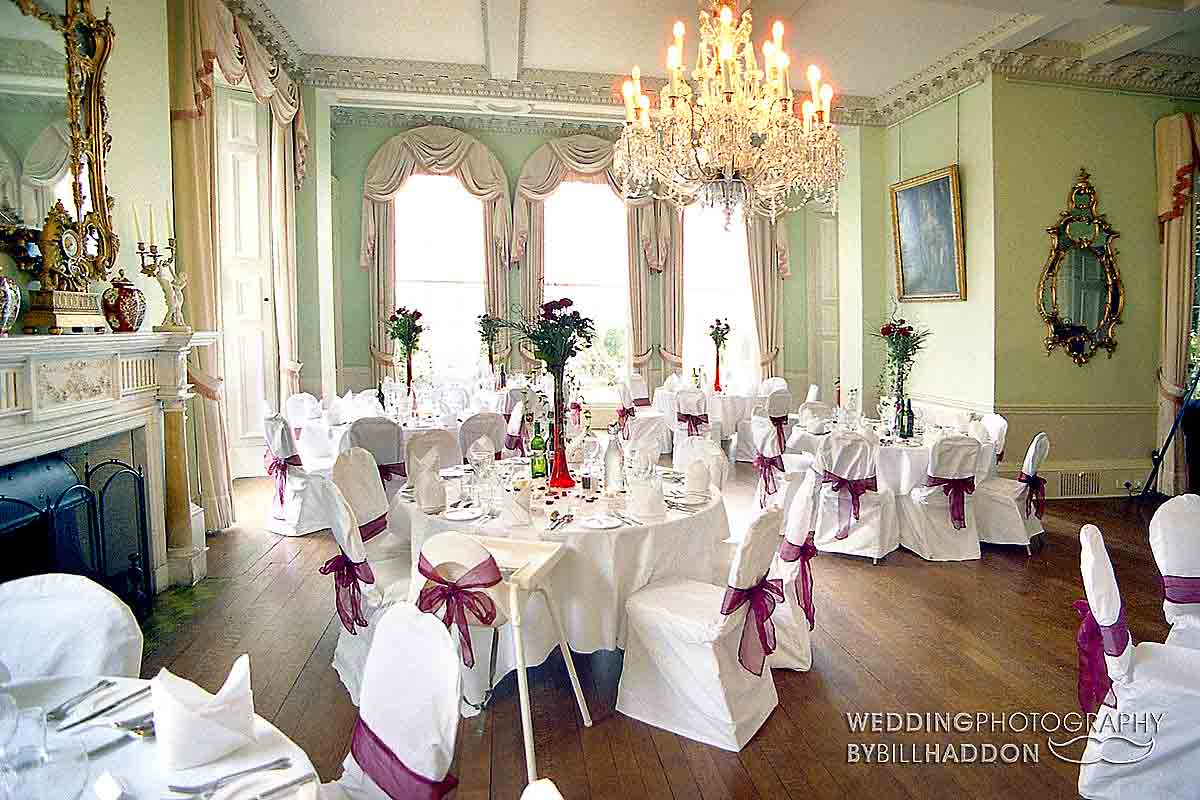 Prestwold Hall wedding breakfast