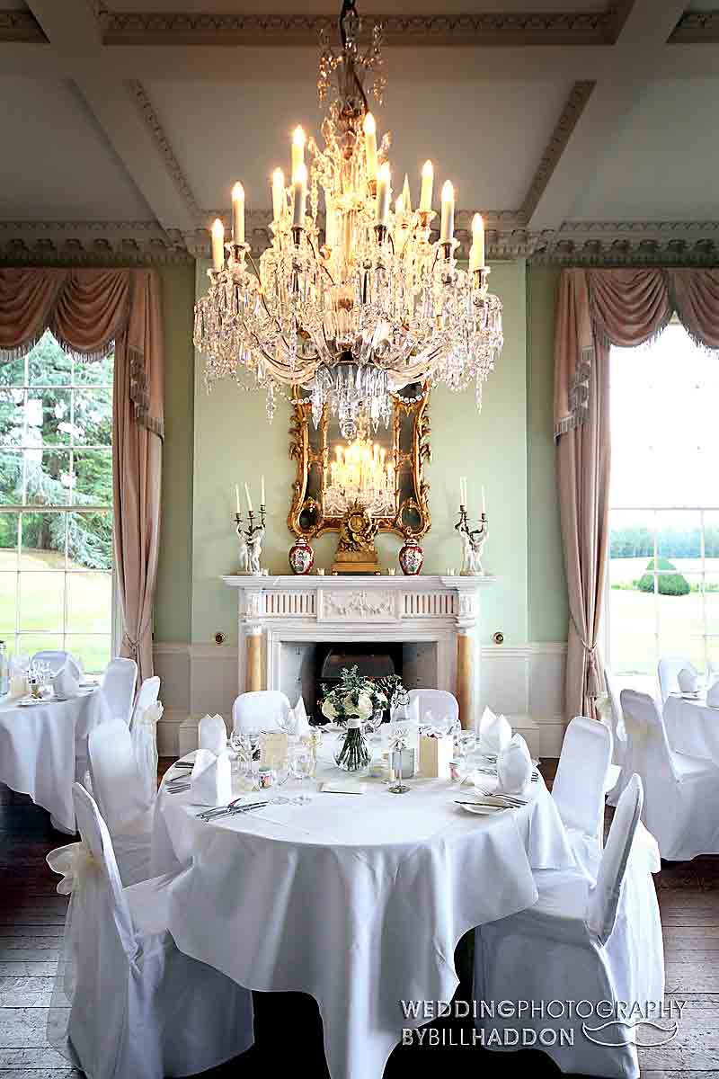 wedding breakfast in Prestwold Hall