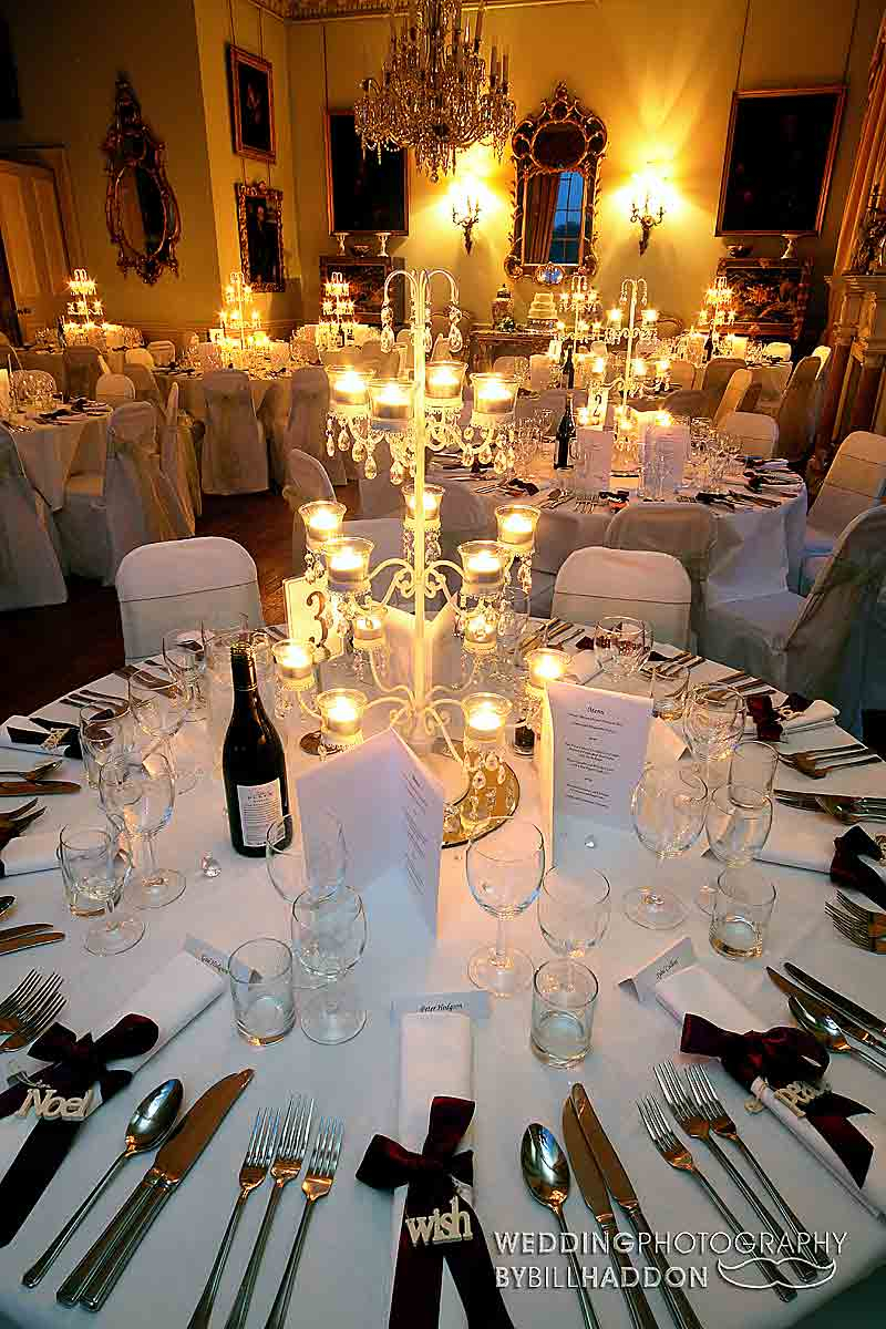 wedding breakfast Prestwold Hall