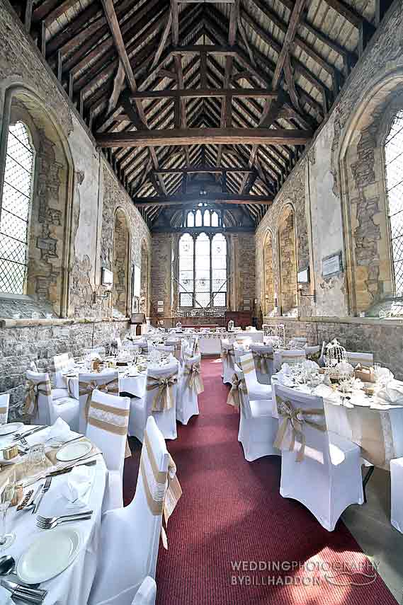 Rothley Court Hotel Chapel wedding breakfast