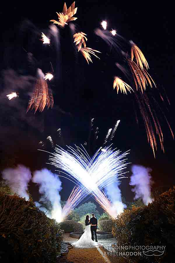 Rothley Court Hotel wedding fireworks